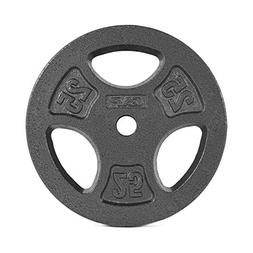 CAP Barbell Standard 1-Inch Grip Weight Plates, Single, Blac