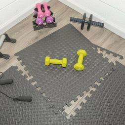 GYM FLOORING Tiles Garage Home Fitness Exercise 24 SQFT Work