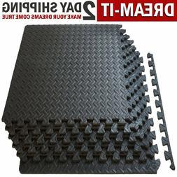 GYM RUBBER FLOORING Tiles Garage Home Fitness Exercise 24 SQ