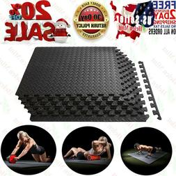 GYM RUBBER FLOORING Tiles Garage Home Fitness Exercise 24 SQ