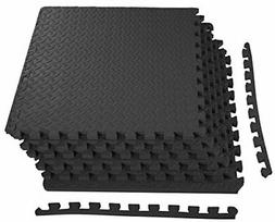 Puzzle Mat Workout Gym Fitness Floor Exercise Interlocking T
