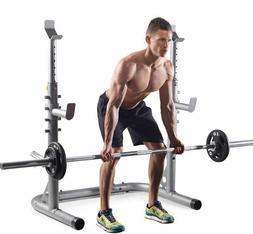 NEW Golds Gym Workout Squat Rack Bench Power Weight Stand Li