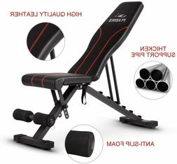 FLYBIRD Adjustable Weight Bench - Perfect Home GYM Bench ⚡