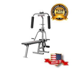 Home Gym & Weight Bench with Bench Press & Butterfly, Lat Pu