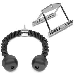 A2ZCare Home Gym Cable Attachments: COMBO Double D Row Handl