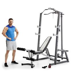 Marcy Home Gym Fitness Deluxe Cage System Machine with Weigh