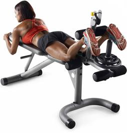 Home Gym Equipment Leg Curl Machine Bicep Weight Bench Combo