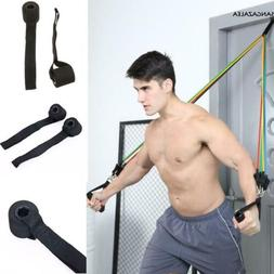 Home Gym Fitness Resistance Bands Over Door Anchor Elastic B