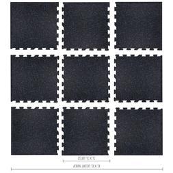 "IncStores Home Gym Floor Kit Mat- 5' 9""x 5' 9"" - Rubber Gym"