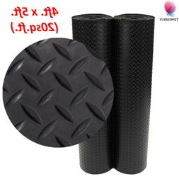 Home Gym Floor Mat Diamond Plate Rubber Flooring Rolls Garag