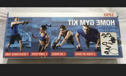 SPRI Home Gym Kit- Push Up Bars, Ab Wheel, Jump Rope, Resist
