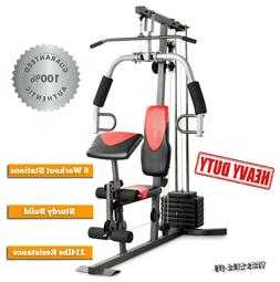 Home Gym Machine Workout 215 Lb Total Fitness Station Streng