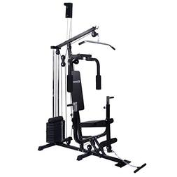 COSTWAY Home Gym Multifunction Fitness Station Workout Equip