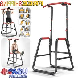 Home Gym Power Tower Dip Station Pull Up Bar Black Workout T