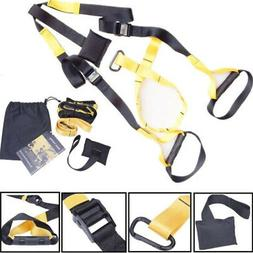 home gym suspension resistance strength training straps