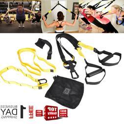 Home Gym Suspension Resistance Strength Training Straps Work