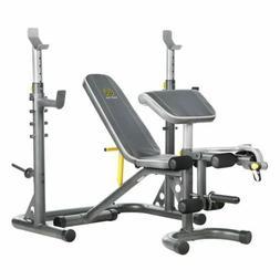 Home Gym Workout Bench Squat Rack Body Power Strength Traini