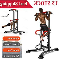 Home Power Tower Multi-Station Push Pull Up Chin Dip Bar Exe