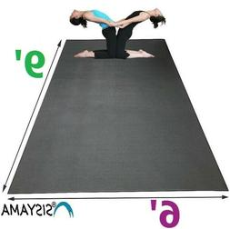 HUGE Extra Large Workout Exercise Yoga Mat 9' 6' MMA Home Gy