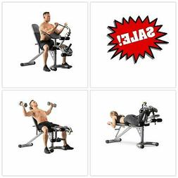 Indoor Adjustable Home Gym Total Workout Bench Leg Curl Arm