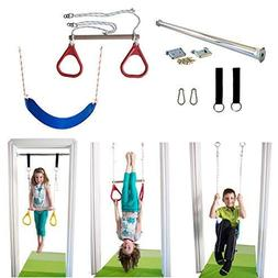 Indoor Swing Kids Trapeze Bar, Gymnastic Rings Combo, Rope S