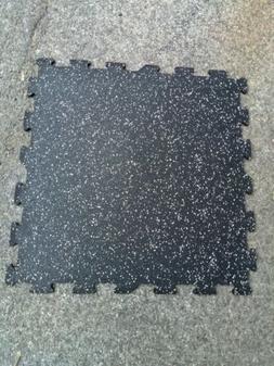 """Interlocking rubber floor tiles 24"""" x 24"""" x 3/8"""" -Great fo"""