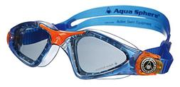 Aqua Sphere Kayenne Junior Goggles, Tinted Lens/Deep Blue Fr