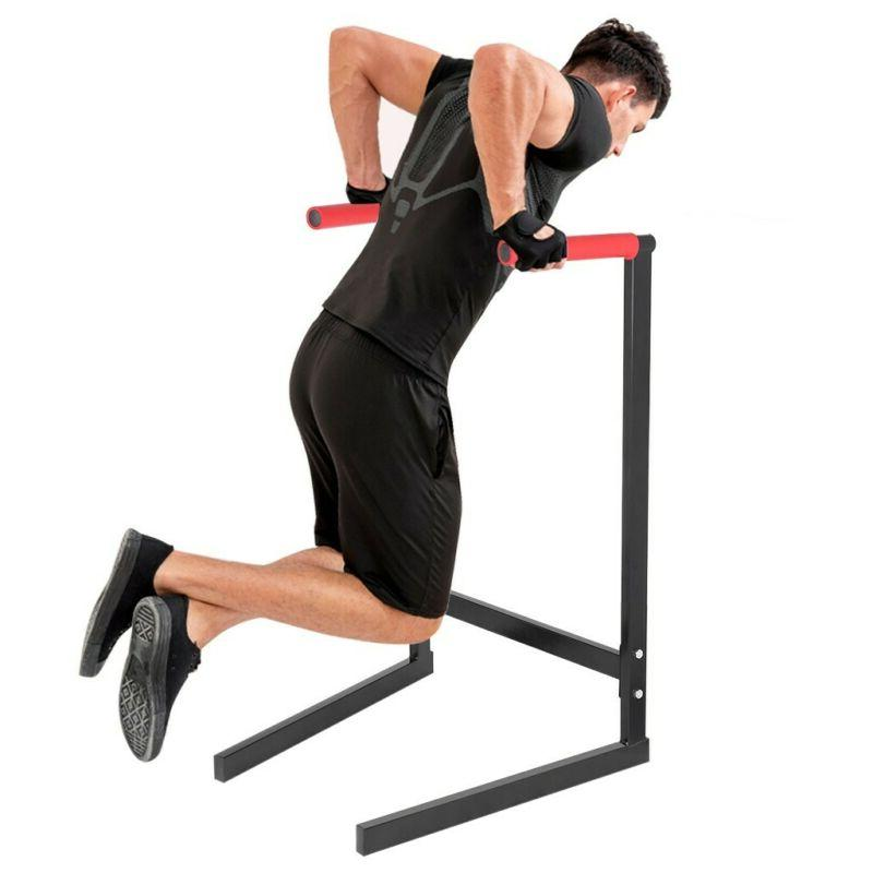 440lbs Dip Stand Dipping Station Parallel Bar Fitness Home G