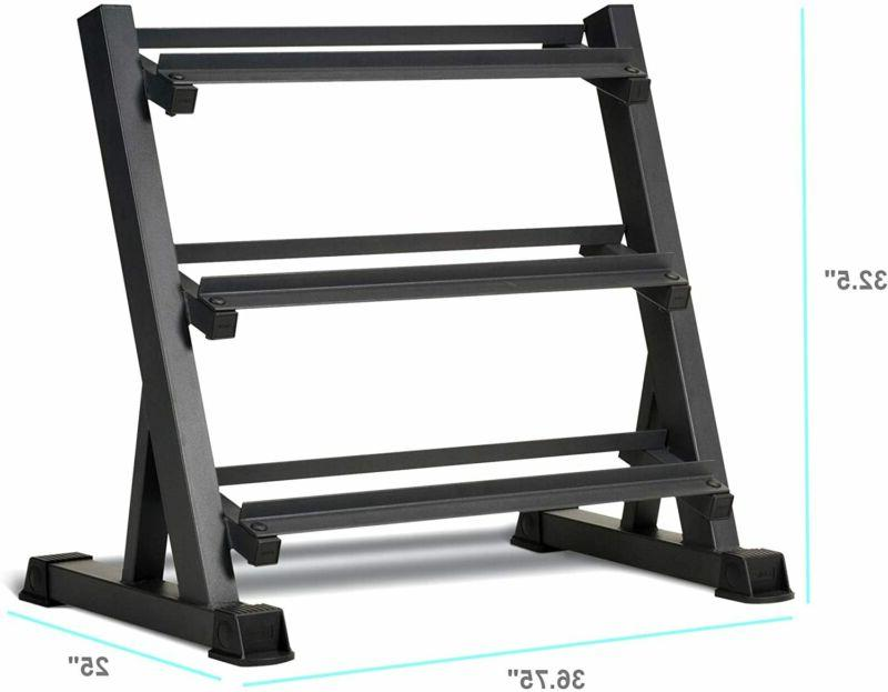 Marcy Tier Steel Workout Dumbbell Weight Rack Storage Stand