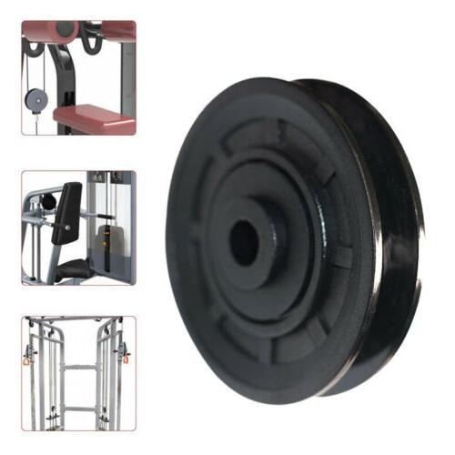 90mm Gym Pulley Replacement w/Bearings Pully Cable Machine