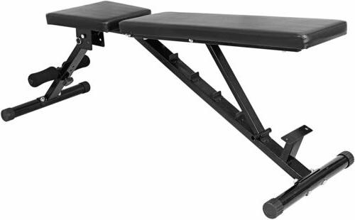 700 lbs Bench Adjustable Utility Black Home Fitness Exercise