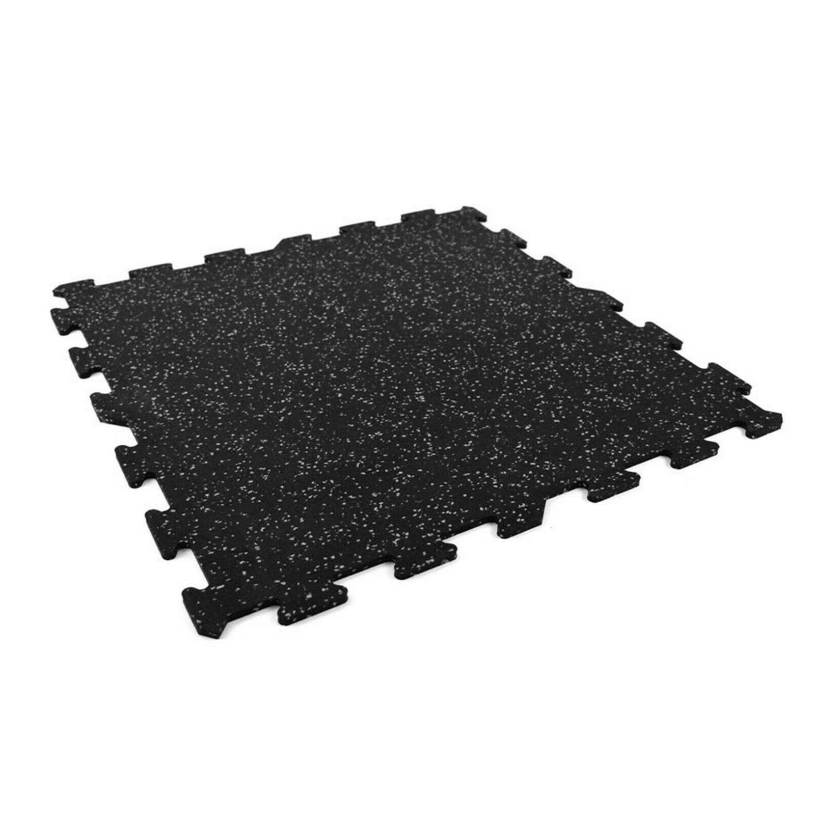 FlooringInc 8mm Strong Rubber Tiles - Gym Flooring For Exerc