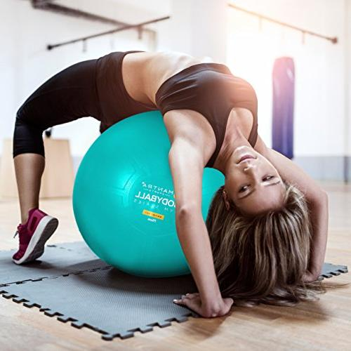 Exercise Ball Chair - 65cm & 75cm Fitness Pilates Ball Gym Resistance & Core Posture -