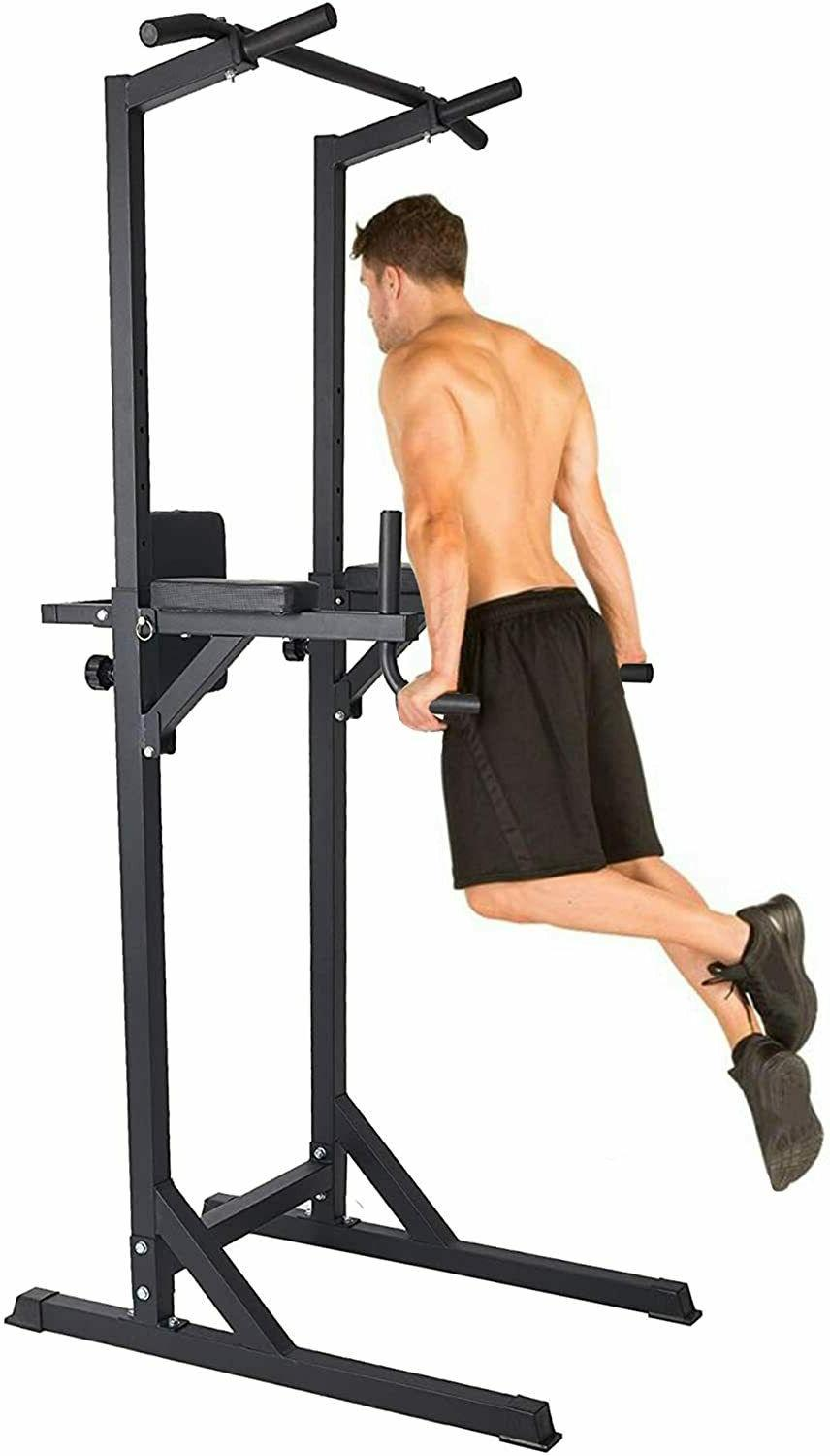 Koreyosh Adjustable Dip Station Chin Up Bar Power Tower Pull
