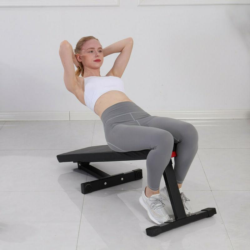 Foldable Weight Bench Lifting Incline Workout Home Gym