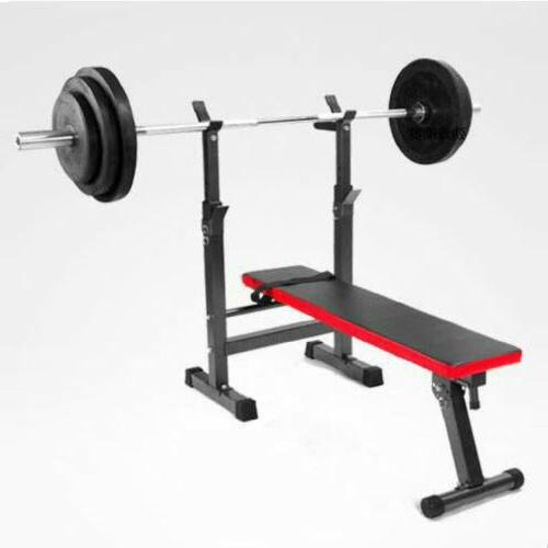 Adjustable Weight Bench Set Press Mid Width Fitness Home Exe