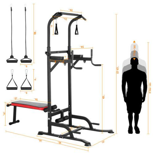 Adjustable Up Bar Pull Push Home Fitness