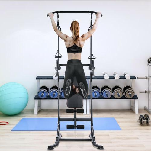 Adjustable Dip Station Up Pull Gym Fitness Core