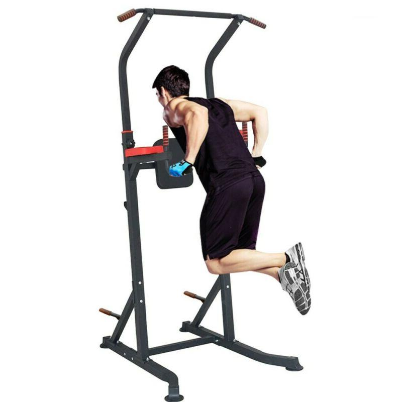 Adjustable Power Tower Pull Up Station Gym Strength