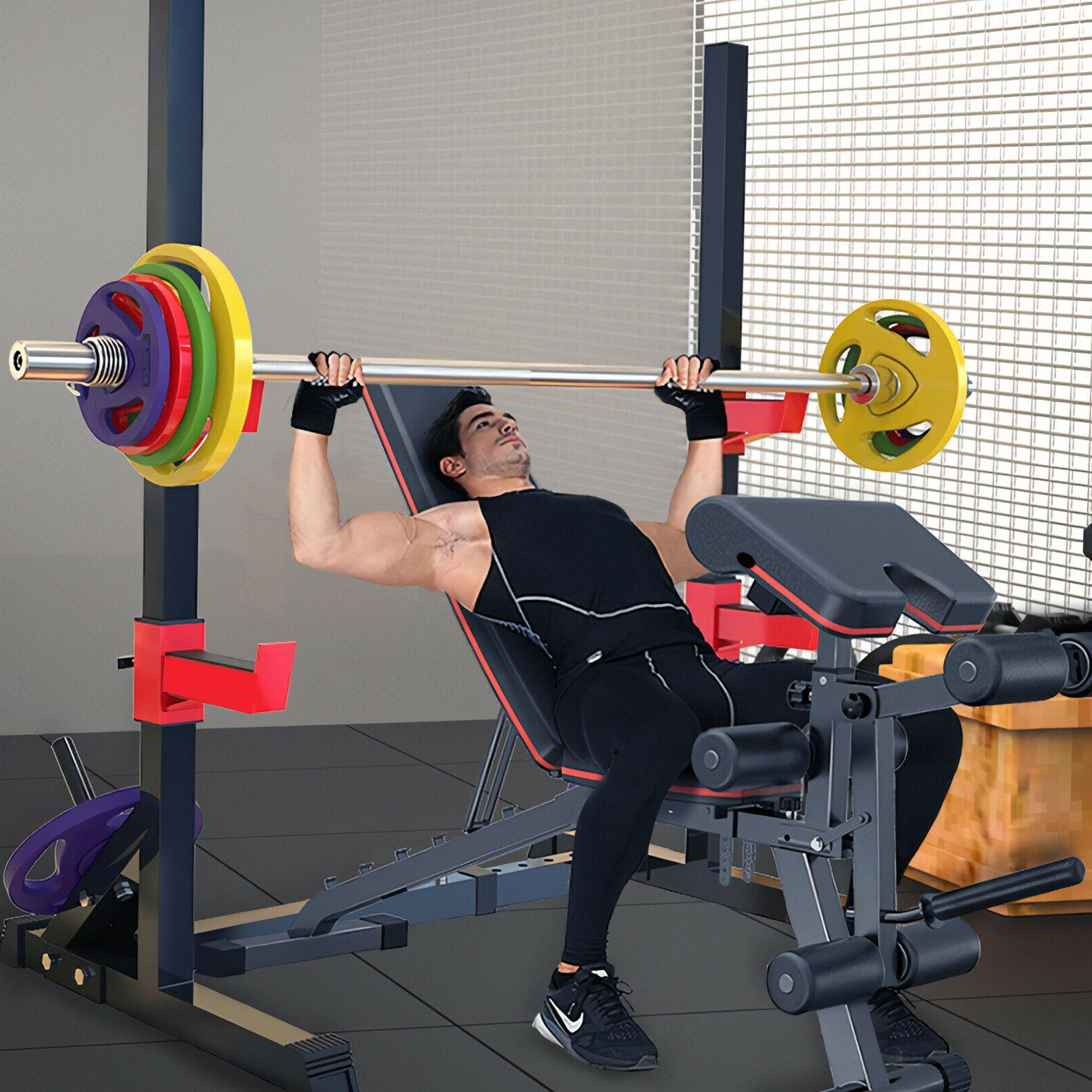 Squat Rack Bench Stand Plate