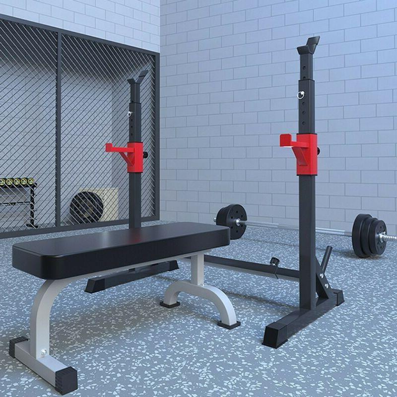 Adjustable Rack Press Power Rack Barbell Stand Gym