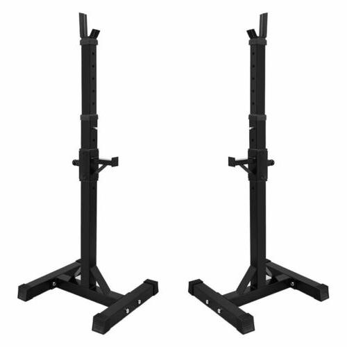 Adjustable Squat Weight Lifting Barbell Stand Home