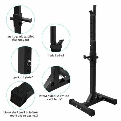 Adjustable Rack Weight Press Barbell Stand