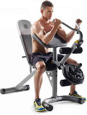 Leg Curl Machine Arm Exercise Bench Free Weight Strength Tra