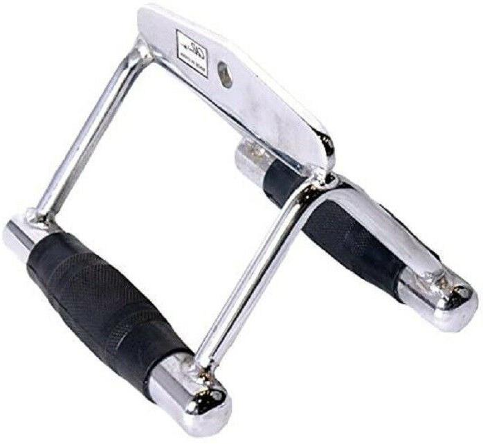 Barbell Deluxe Double D Handle with Rubber Handgrips Home Gy