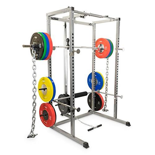 Valor Fitness BD-7 Rack with Lat Pull Attachment