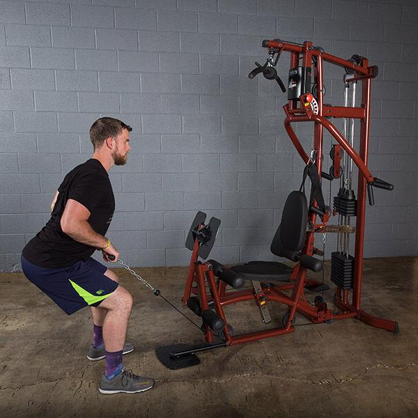 Body-Solid EXM1 Multi Station Gym Leg lb weight stack
