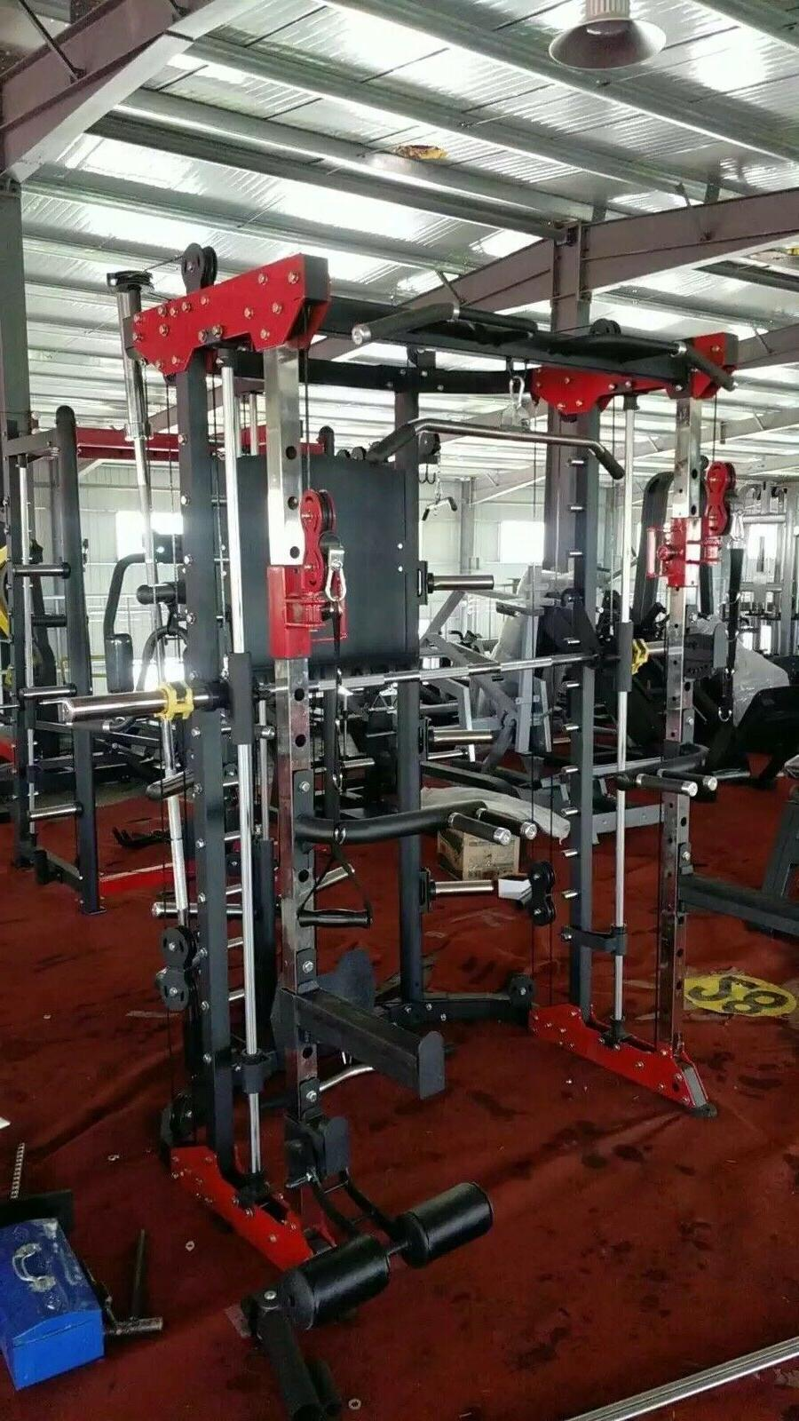 Commercial Style Home Gym - Smith Machine, Cables