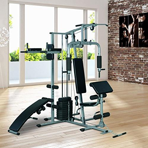 Soozier Fitness Station Gym Machine 100 lb Stack