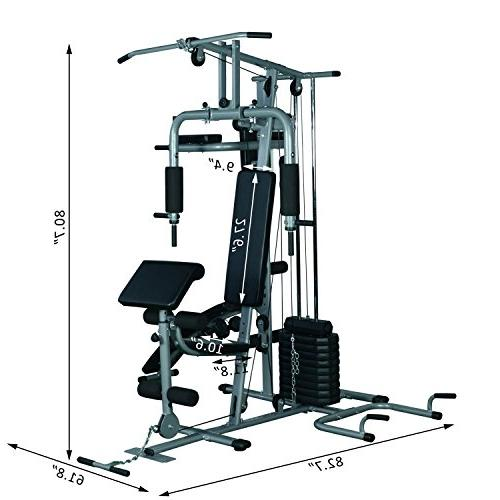 Soozier Complete Station Gym Machine w/ 100 lb Stack